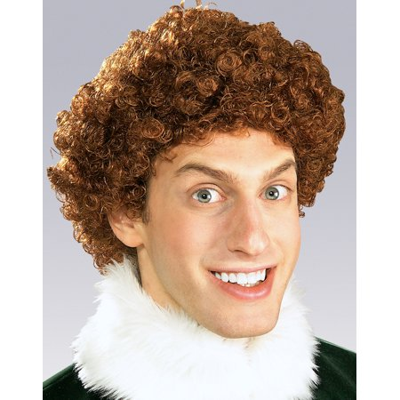 Buddy The Elf Red Curly Wig Mens Christmas Party Halloween Costume Accessory