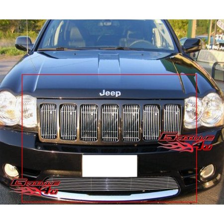 Compatible with 09-2010 Jeep Grand Cherokee SRT8 Billet Grille Grill Combo Insert J67746V Jeep Chrome Grill
