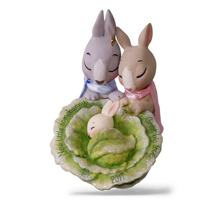 Hallmark Keepsake 2017 Little Somebunny New Parents Dated Christmas Ornament ()