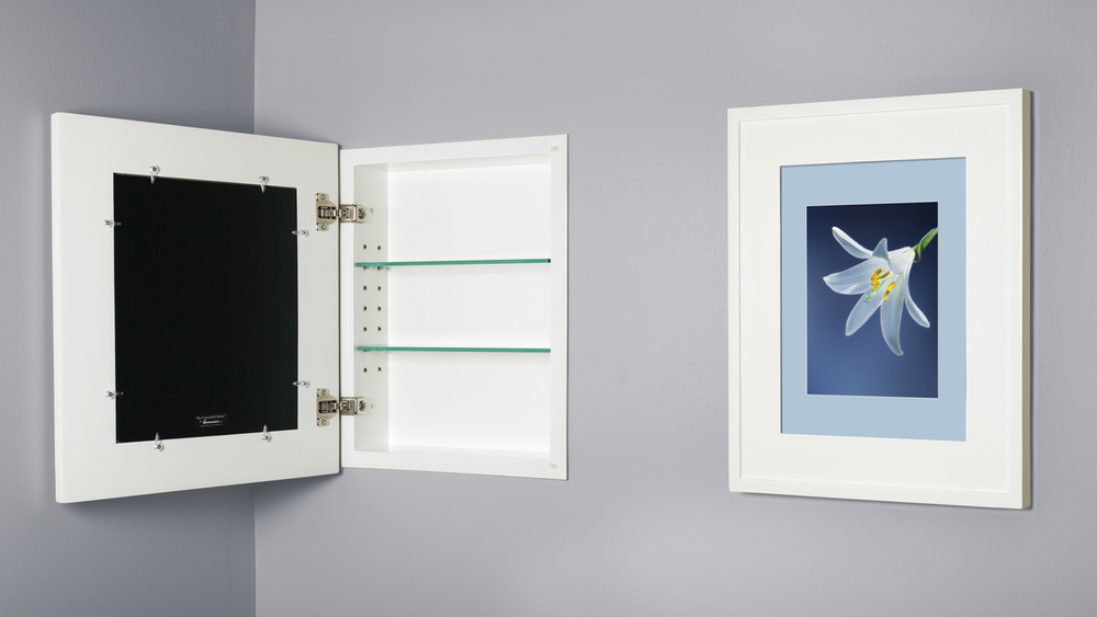 14x18 White Picture Frame Medicine Cabinet, A Recessed Concealed Medicine  Cabinet That You Decorate Yourself