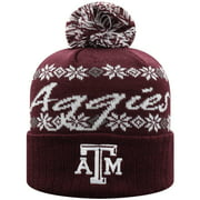 Texas A&M Aggies Top of the World Women's Flattered Cuffed Knit Hat with Pom - Maroon - OSFA