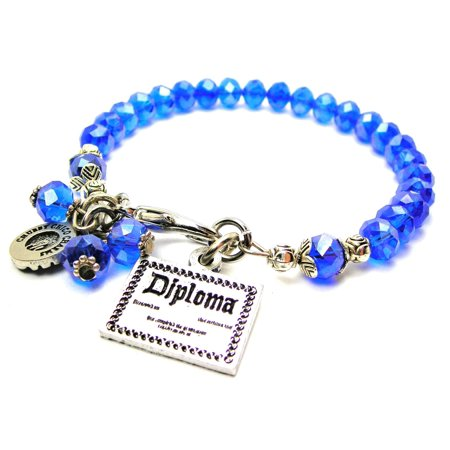 Chubby Chico Charms Fancy Diploma Splash of Color Bracelet in Sapphire Blue