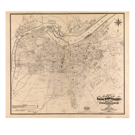1873, Louisville, KY - New Albany and Jeffersonville, IN 1873, Kentucky, United States Print Wall Art](Party Store Louisville Ky)