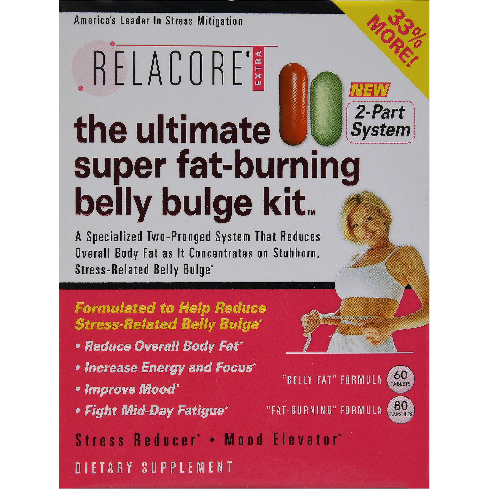 Relacore Extra The Ultimate Super Fat Burning Belly Bulge Kit
