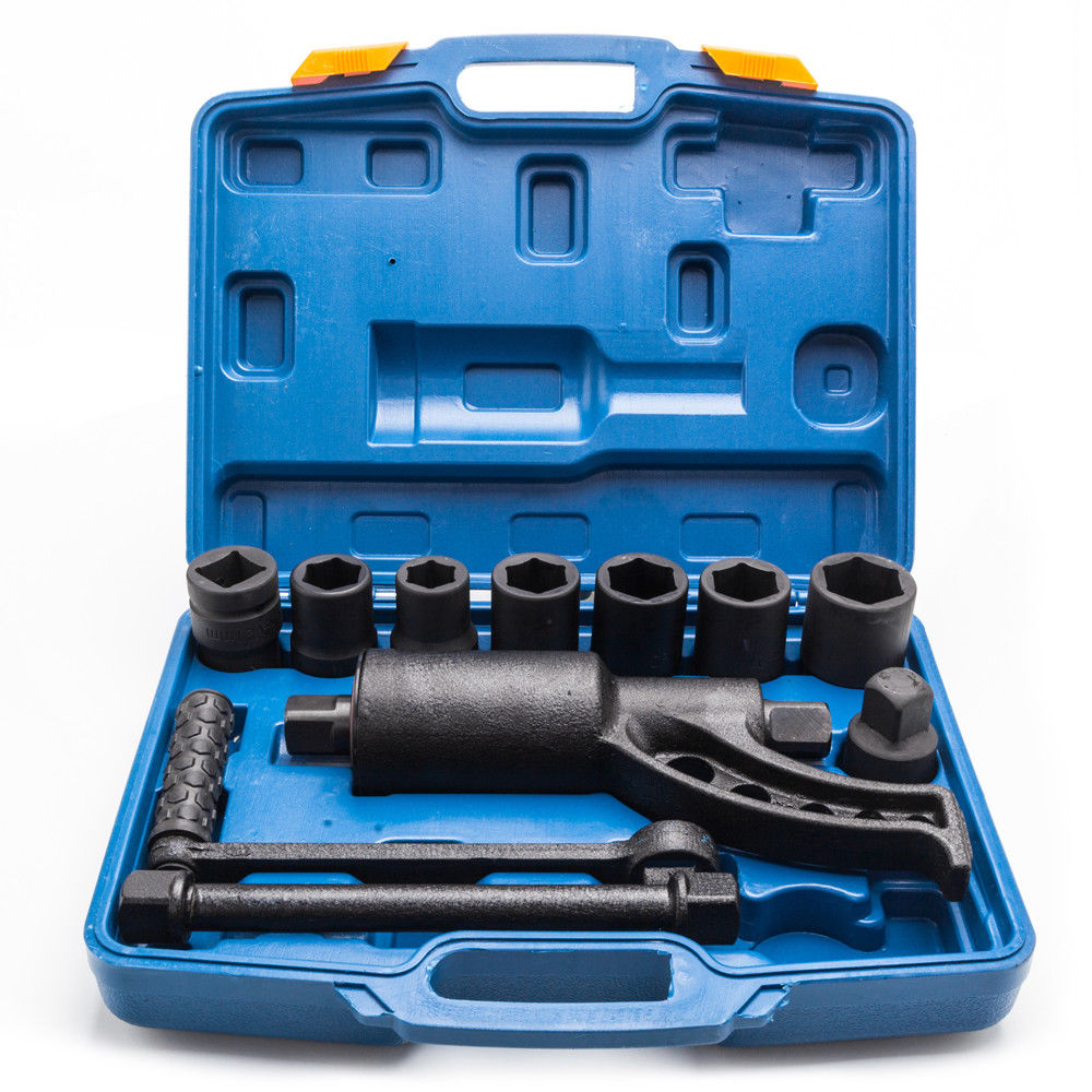 Ktaxon Torque Multiplier Set Wrench Lug Nut Lugnuts Remover Labor Saving Tools Heavy Duty, 8 Socket with Case, 58:1
