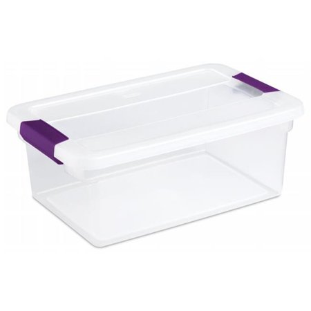 15 Quart ClearView Latch Storage Container With Sweet Plum Handles 17 - Pack of 12 (Sugar Plum Toy Box)