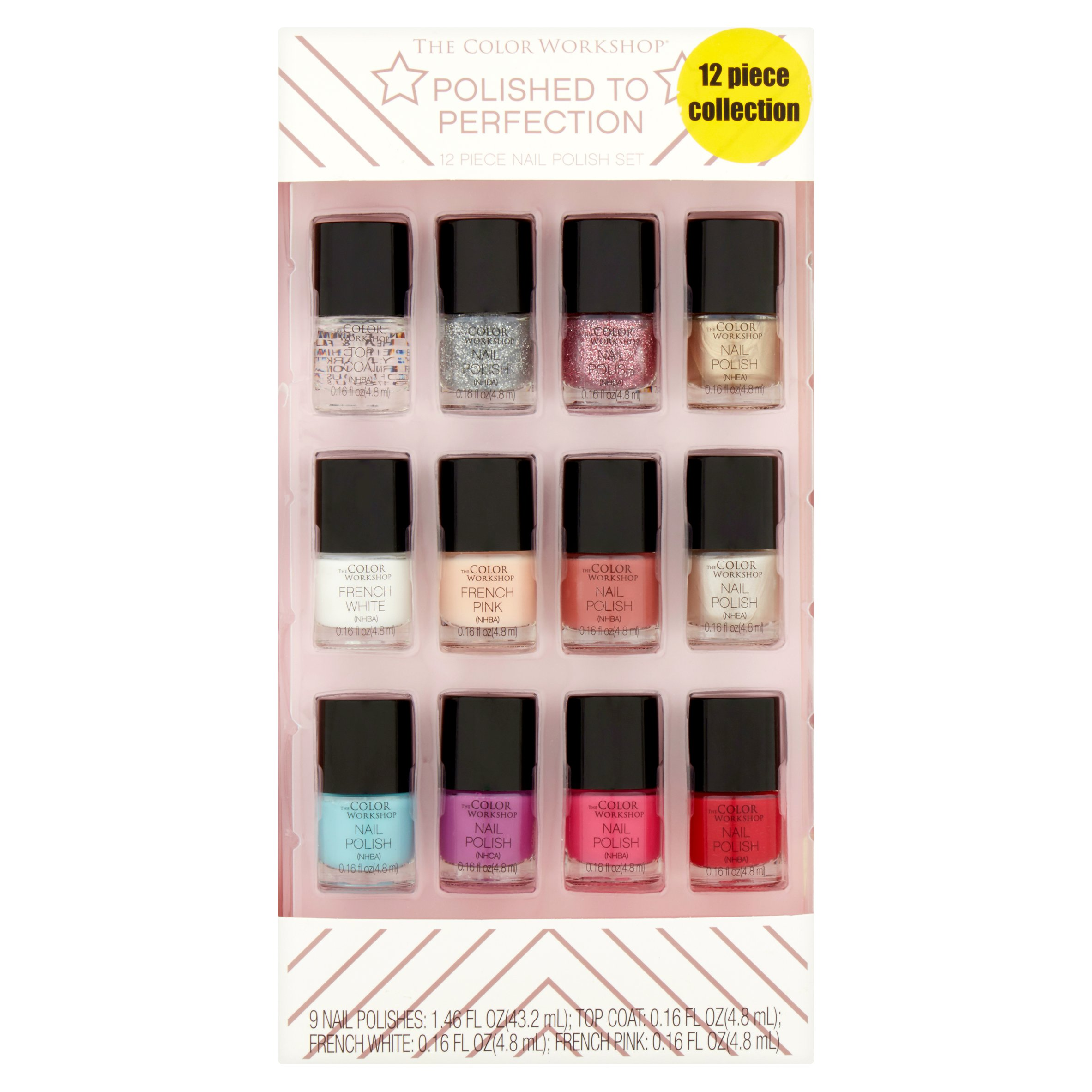 The Color Workshop Polished to Perfection Nail Polish Set, 12 piece