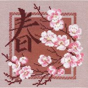 """Spring Counted Cross Stitch Kit, 8"""" x 8"""", 16 Count"""