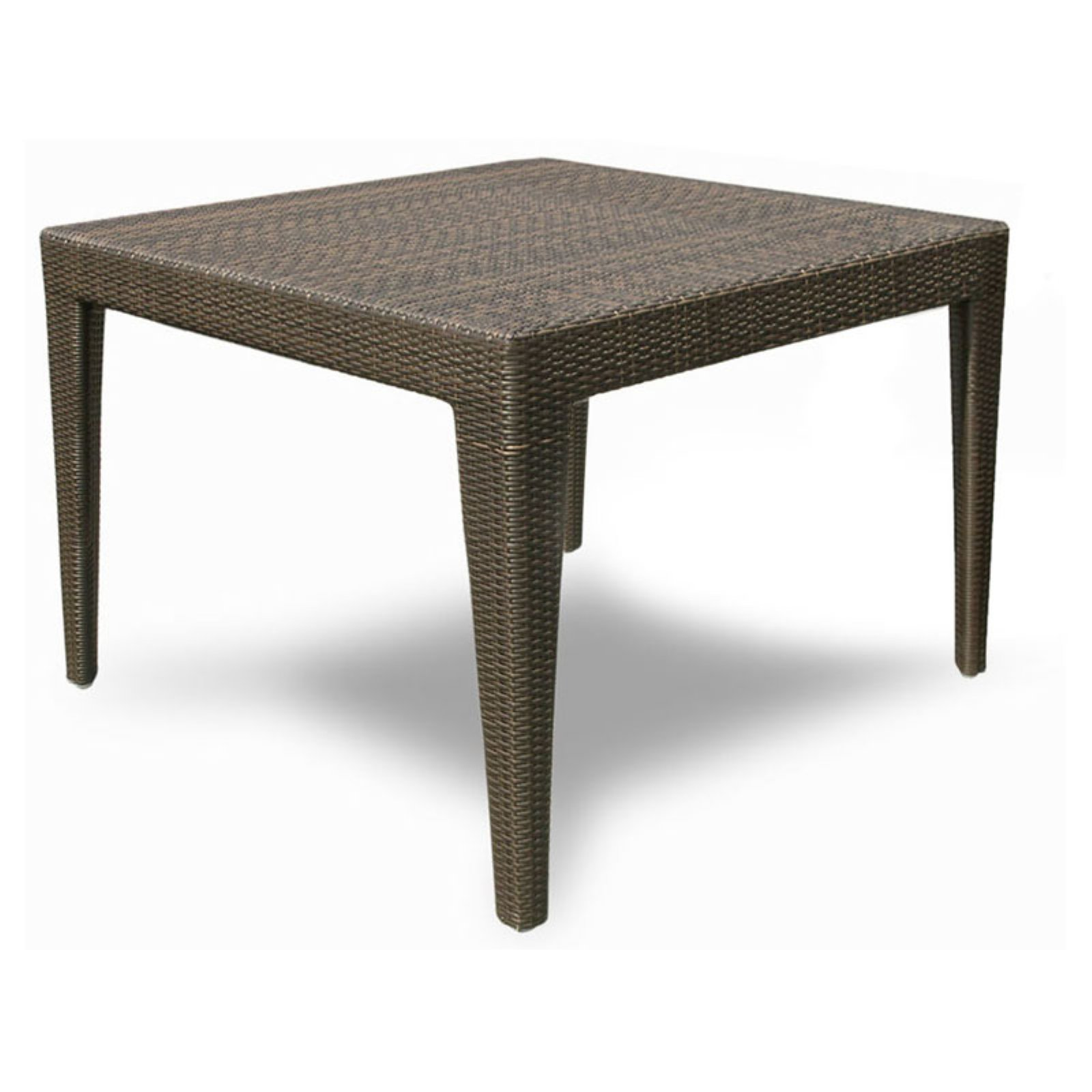 Hospitality Rattan Wave Square Dining Table with Optional Glass Top