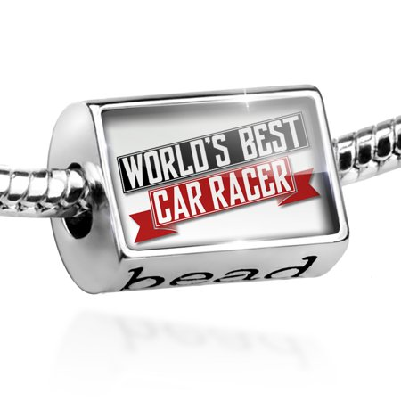 Bead Worlds Best Car Racer Charm Fits All European