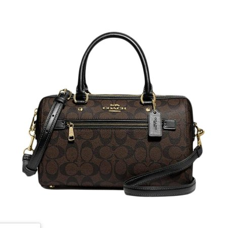 Coach Signature Rowan Satchel in Brown Black