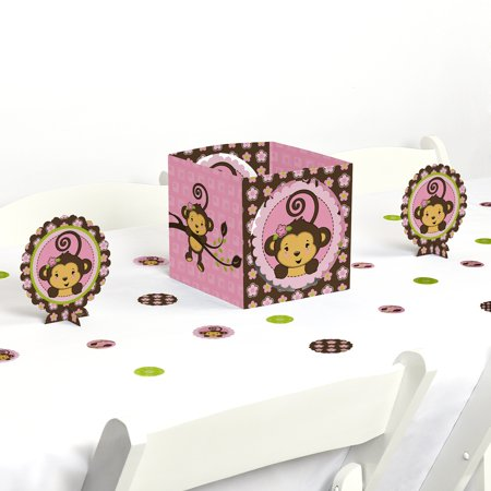Pink Monkey Girl - Party Centerpiece & Table Decoration Kit