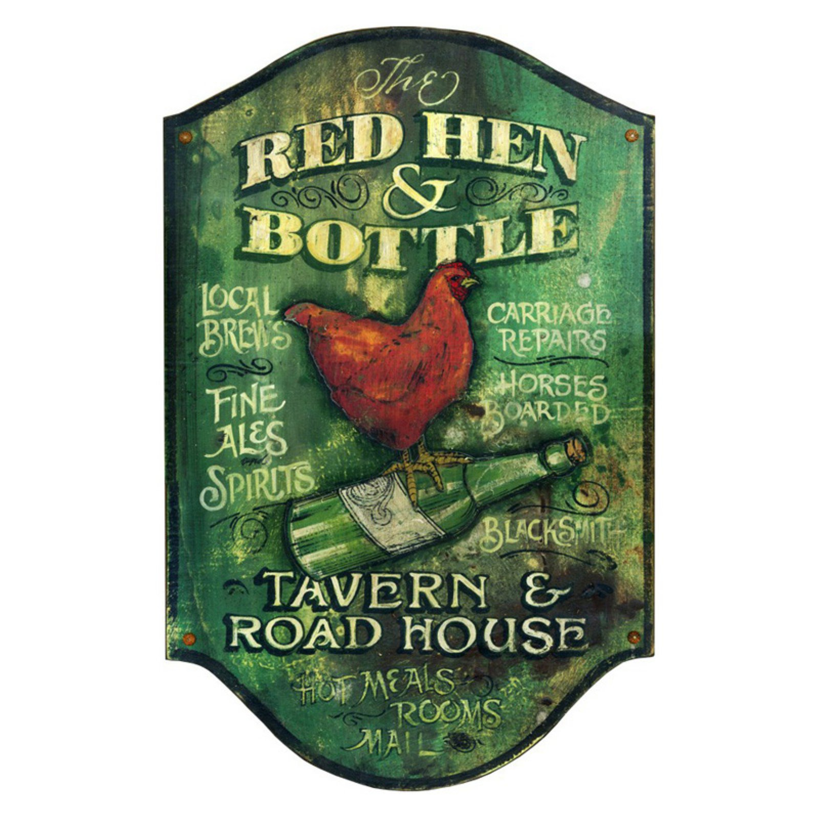Red Hen Wall Art - 15W x 26H in.