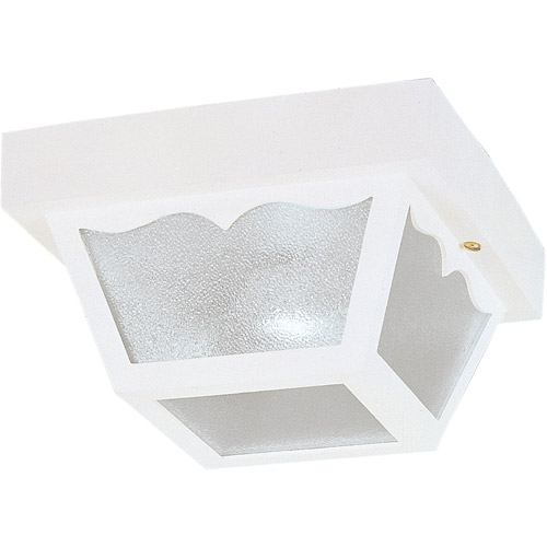 "Westinghouse Lighting 6697500 8-1/4"" White Square Exterior Porch Light"