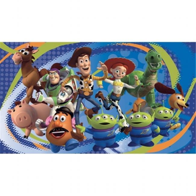 Roommates JL1204M Toy Story 3 Chair Rail Prepasted Mural 6 ft.  x 10 ft.