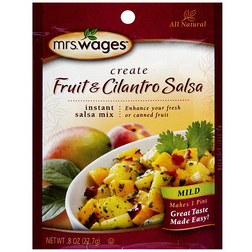 Mrs. Wages Mild Fruit & Cilantro Salsa, 0.8 oz (Pack of 12)