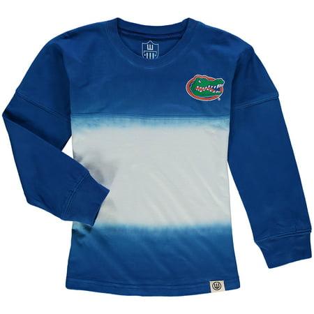 Florida Gators Wes & Willy Girls Toddler Dip Dye Cheer Long Sleeve T-Shirt - Royal