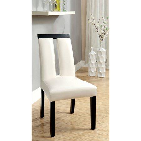 Swell Furniture Of America Lexgard Modern Two Tone Dining Chair White 2Pk Creativecarmelina Interior Chair Design Creativecarmelinacom