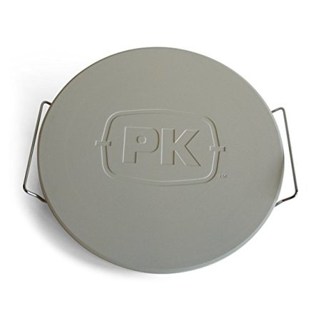 Portable Kitchen PK 99070 Pizza Stone Unglazed surfaceUnglazed surfaceCarry rack includedSafe for use in grills, conventional and (gasp!) microwave ovens