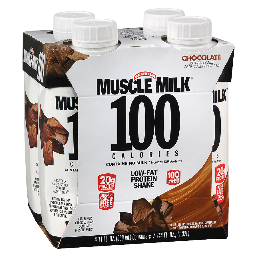 Muscle Milk 100 Calorie RTD Shakes Chocolate11.0 oz. x 4 pack(pack of 1)