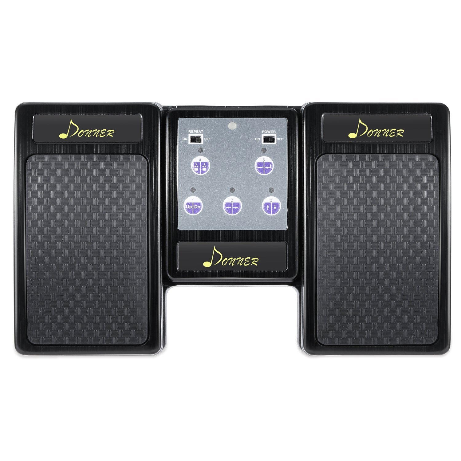donner bluetooth page turner pedal for tablets ipad rechargeable black. Black Bedroom Furniture Sets. Home Design Ideas