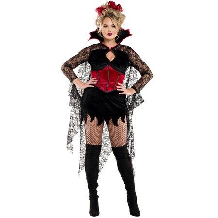 Plus Size Dark Castle Vampire Costume, Sexy Plus Size Dark Castle Vampire Costume - Castle Boutique Halloween Costumes