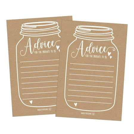25 Rustic New Parent Advice Cards For Baby Shower Game Activities Ideas, Expecting Mommy Words of Wisdom Messages for Parents To Be Boy Girl Co-Ed Couples Gender Reveal Keepsake Alternative - Office Baby Shower Ideas