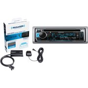 Kenwood KMR-D365BT Single-DIN In-Dash Marine CD Receiver and SiriusXM SXV300V1 SiriusConnect Vehicle Tuner