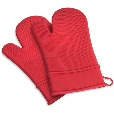 Sorbus Handy Silicone Cooking, Grilling, Baking Mitts, For Kitchen or Outdoor Use, Set of 2 Mitts
