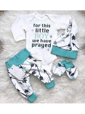 782dd050867 Product Image 3Pcs Newborn Infant Baby Boys Romper Bodysuit Long Pants Hat Outfits  Clothes Set