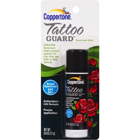 coppertone tattoo guard sunscreen stick spf 50 0 6 oz