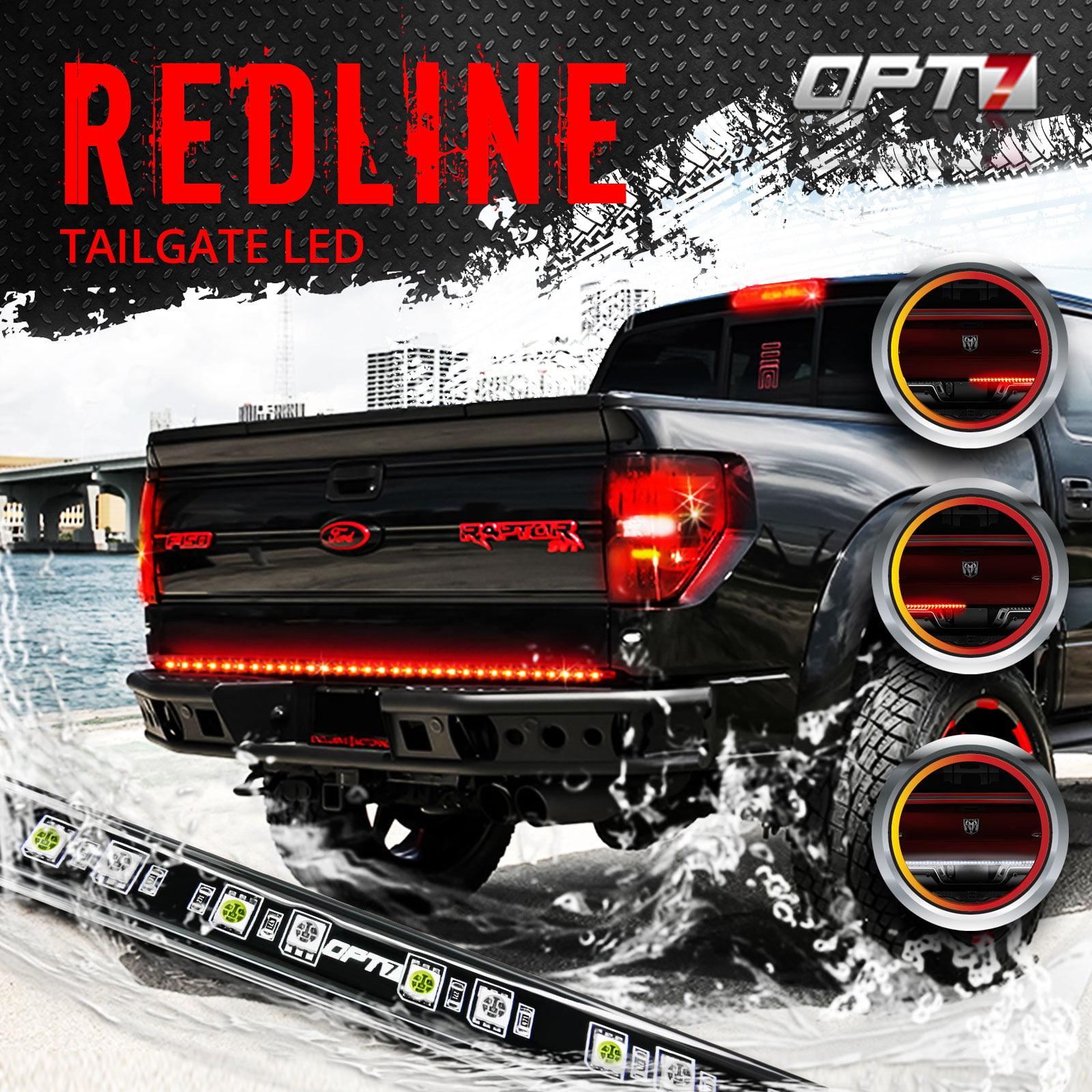 "60"" Redline LED Tailgate Light Bar - Tri-Core LED - Weatherproof - Full Function - 2yr Warranty - Easy Screw-Less Install - Durable Rigid Aluminum - Reverse Signal Running Brake - Rain or Snow"