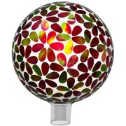 Very Cool Stuff Mosaic Flower Glass Gazing Globe
