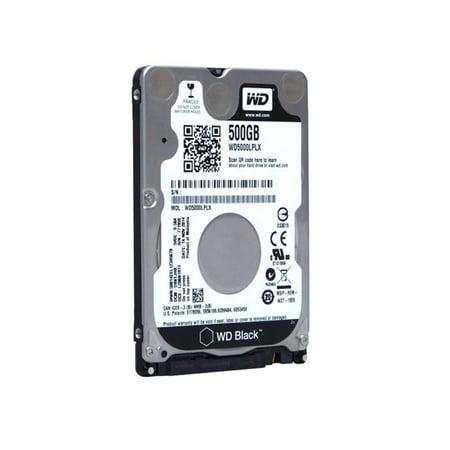 2.5 in. 500 GB WD Black SATA Hard Drive, Black 2.5' 500 Gb Notebook