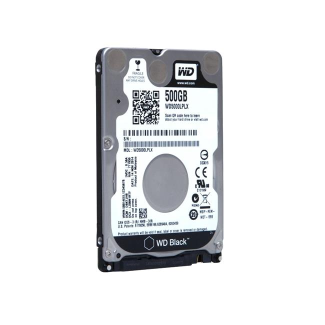 2.5 in. 500 GB WD Black SATA Hard Drive, Black