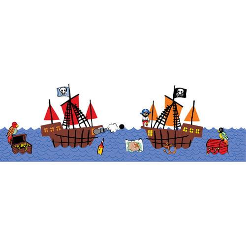 WallPops Argh Pirates Stripe Decals