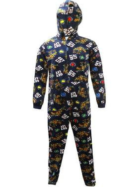 Boxercraft Men's Get Lit Holiday Hooded One Piece Pajama