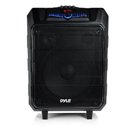 Small Portable Pa System, Pyle 12in Jobsite Wireless Karaoke Pa