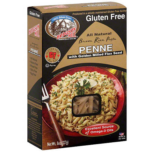 Hodgson Mill Brown Rice Penne With Golden Milled Flax Seed, 8 oz (Pack of 12)