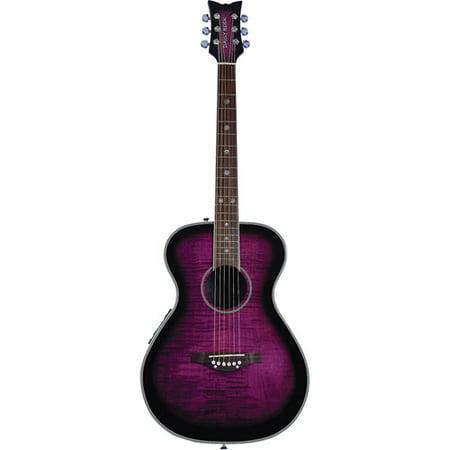 Daisy Heart Rock Guitar (Daisy Rock Pixie Acoustic Electric Plum Purple)