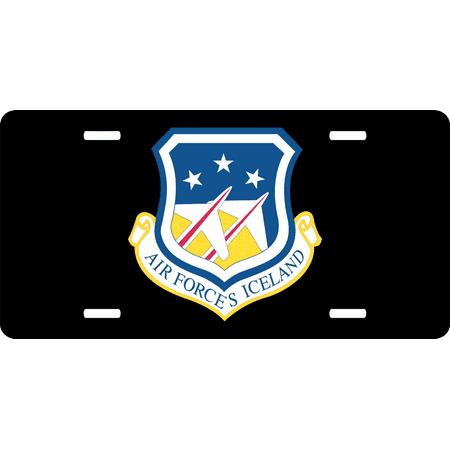 U.S. Air Force Head Quarter Iceland License Plate (Icelandic License Plate)