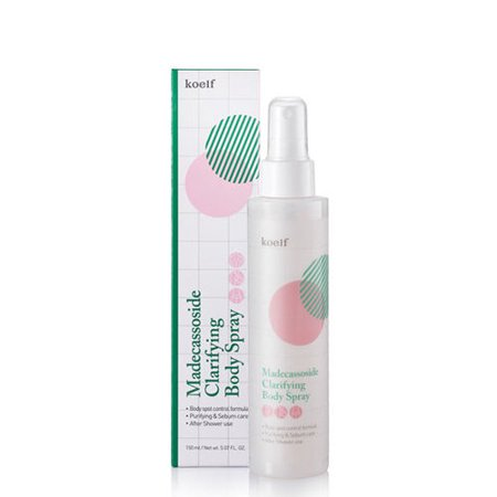 Clarifying Body Spray - Koelf Madecassoside Clarifying Body Spray Mist (150ml 5.07 fl.oz)