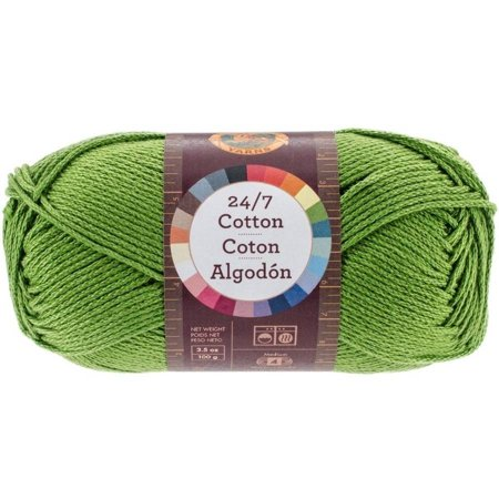 Solid Yarn Grass - Lion Brand 24/7 Cotton Grass Cotton Yarn