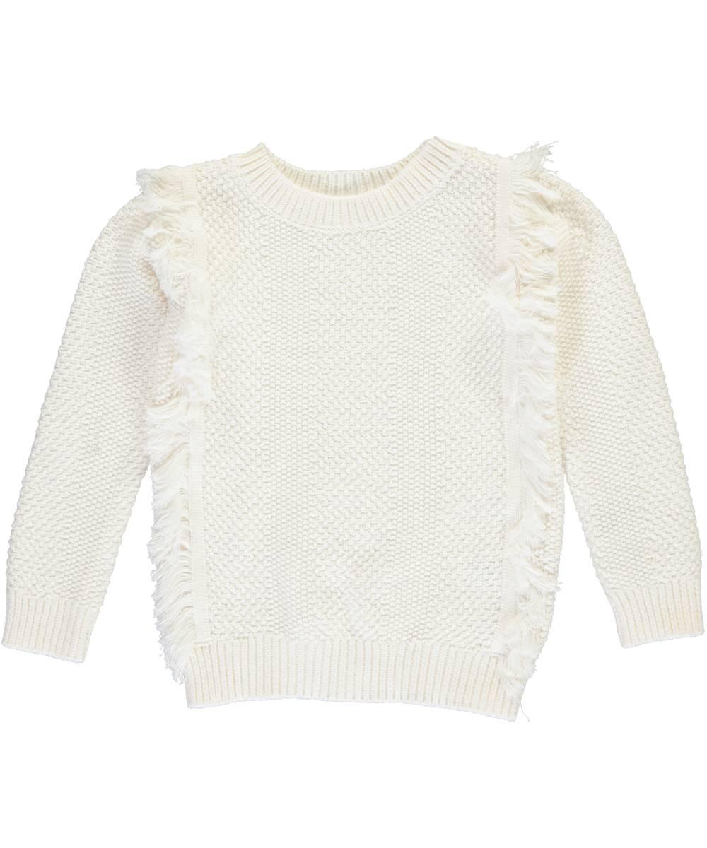 """Little Girls' Toddler """"Fisherman Fringe"""" Sweater (Sizes 2T - 4T)"""