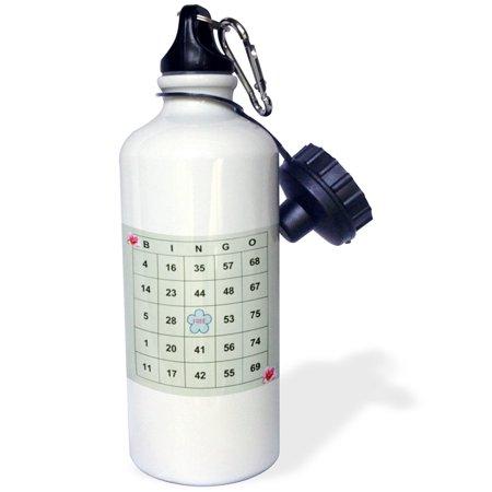 3dRose Bingo n Roses, Sports Water Bottle, 21oz - Fitness Bingo