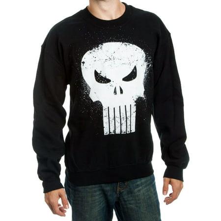 Logo Embroidered Crew Sweatshirt (Marvel Comics The Punisher Logo Adult Crew Sweatshirt)