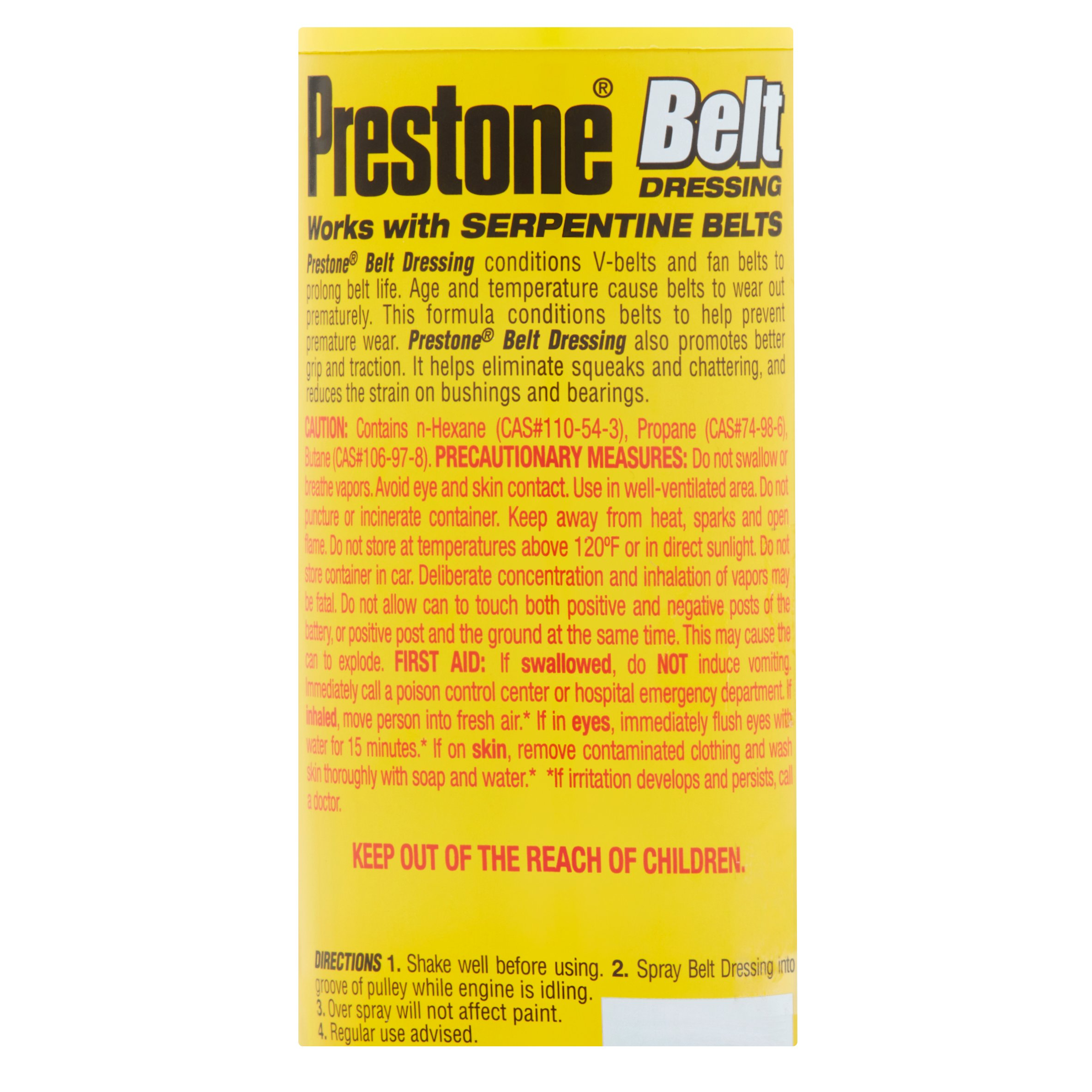 Prestone Belt Dressing Image Wd40 Wd 40 Specialist As325 6 Oz