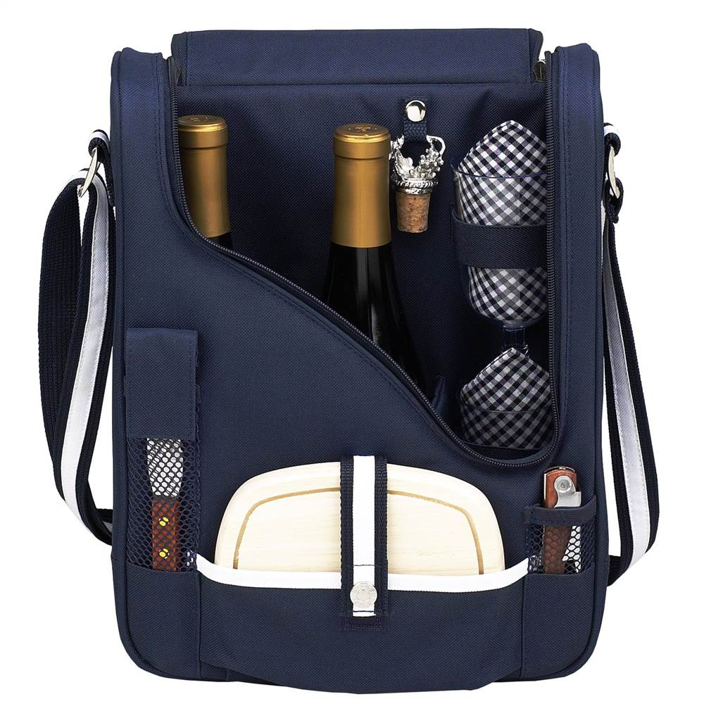 Lux Wine and Cheese Cooler in Navy Blue
