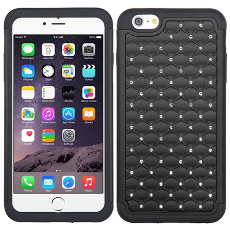 Bling Rhinestone Hard Cover +Impact Silicone Protector Case for iPhone 6 Plus