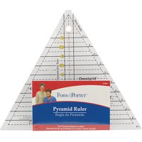 """Fons & Porter Pyramid Ruler, 1"""" to 6"""""""